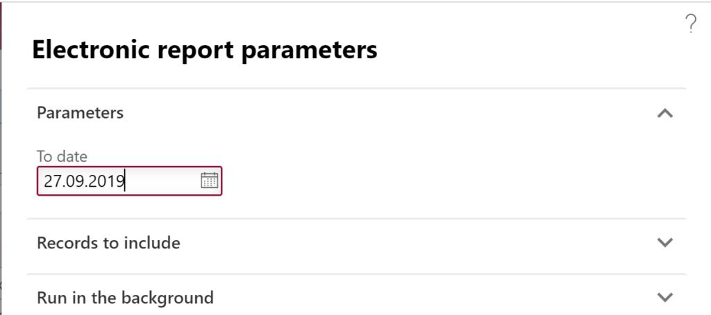 ToDate user parameter